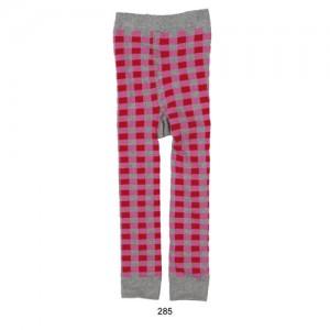 Mim-Pi Strick-Legging Karo pink-rot-grau