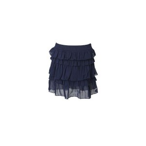 Muy Malo ruffle crincle Rock dress blue