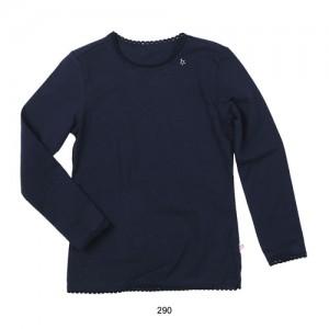 Mim-Pi Basic-Langarm-Shirt navy