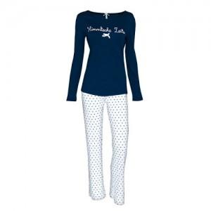 Louis & Louisa Kinder Schlafanzug/Pyjama HIMMLISCHE ZEITEN blau-weiss Sterne allover