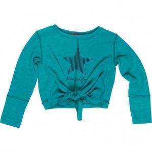 Kiezel-tje Langarm-Shirt Button green melee