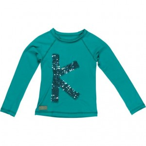 "Kiezel-tje Langarm-Shirt/Longsleeve ""K"" green"
