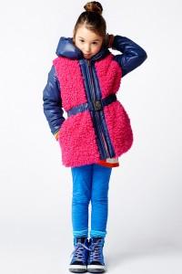 Mim-Pi Winter-Jacke/-Mantel pink blau