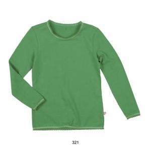 Mim-Pi Basic-Langarmshirt / Longsleeve  grün