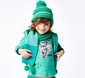 Mim-Pi Mütze Streifen grün