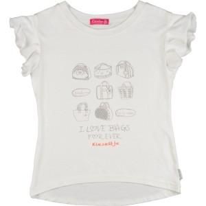 Kiezel-tje T-Shirt Taschen-Print offwhite