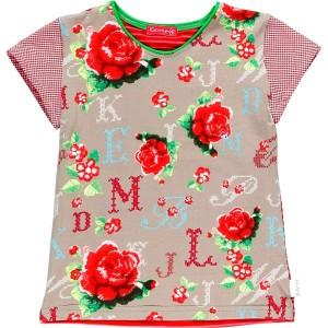 Kiezel-tje T-Shirt Blumen rot/pink