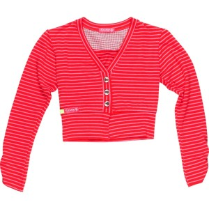 Kiezel-tje Cardigan/Bolero Streifen rot/pink