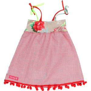 Kiezel-tje Mini Träger-Kleid rot-karriert