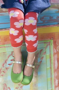 Bonnie Doon Legging DAISY Blumen dahlia