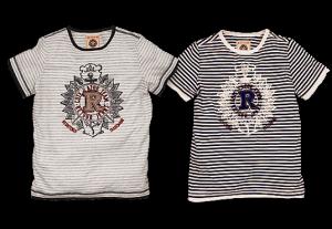 RETOUR Jeans T-Shirt Armando Streifen dark navy-sand