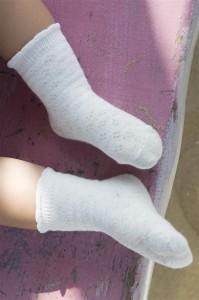 Bonnie Doon Baby Socken AJOUR weiß