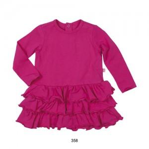 Mim-Pi Kleid pink mit Rüschen