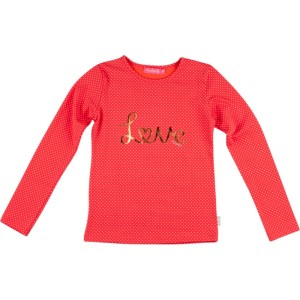 Kiezel-tje Langarm-Shirt/Longsleeve Love dot orange