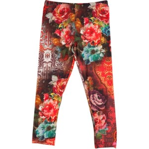 Kiezel-tje Legging Blumen-Print brown/orange