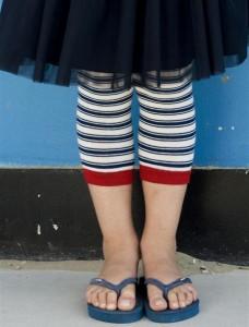 Bonnie Doon Legging Nautical Stripe blau