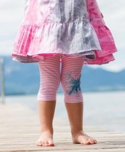 Pezzo D´oro Capri Legging Streifen rose