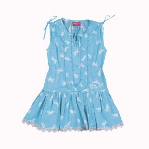 Mim-Pi Tunika/Kleid aqua-ecru