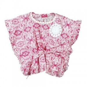 Mim-Pi Bluse/Tunika Bluten-Print pink-ecru