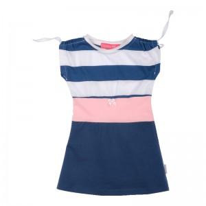 Kiezel-tje Mini Kleid Block-Streifen blau
