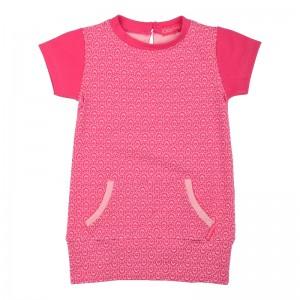 Kiezel-tje Mini Kleid Print pink