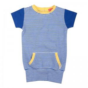 Kiezel-tje Mini Kleid Streifen blau