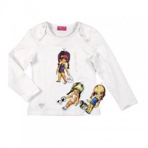 Mim-Pi Patch-Shirt ecru