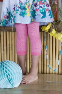 Bonnie Doon Guipure Legging candy