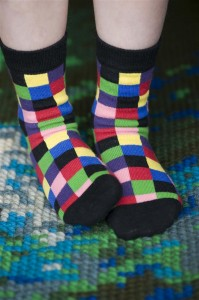 Bonnie Doon Socken MEGA PIXEL schwarz-bunt