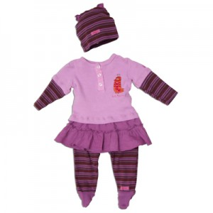 "Keedo Kleid/Tunika mit Legging 3tlg. magic pink ""Tweety dress set"""