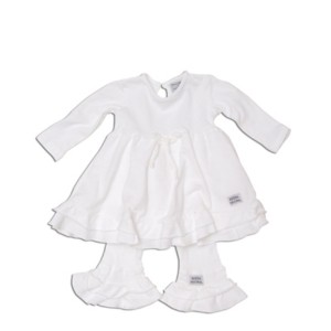"Keedo Kleid/Tunika mit Legging 2tlg. white ""Pretty dress set"""