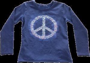 Blue Effect Langarm-Shirt/Longsleeve Peace stahlblau oil