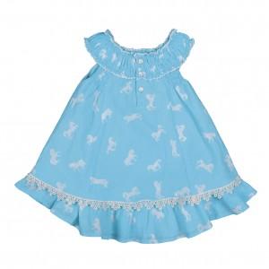 Mim-Pi Kleid Pferdeprint aqua