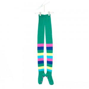 Mim-Pi Strumpfhose Blockstreifen multicolor grün