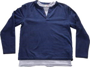 Blue Effect 2 in 1 Langarm-Shirt/Longsleeve SET stahlblau oil