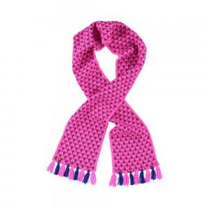 Mim-Pi Strick-Schal Herzen pink