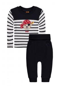 Steiff 2tlg. Set Sweatshirt + Jogginghose Pirat marine weiß