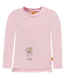 Steiff Langarm-Shirt Herzchen barely pink
