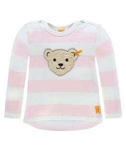 Steiff Sweatshirt Streifen barely pink