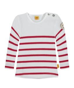 Steiff Langarm-Shirt Streifen rot