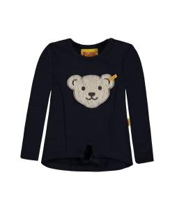 Steiff Mädchen Sweatshirt mit Quietschebär marine