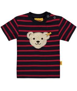 Steiff Jungen T-Shirt Streifen marine-rot