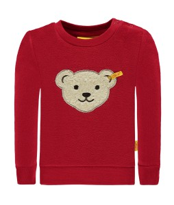 Steiff Sweatshirt mit Quietschebär tango red
