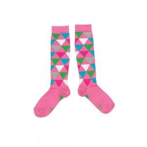 Mim-Pi Kniestrümpfe triangle pink