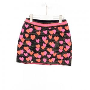 Mim-Pi Strick-Rock Herzen schwarz pink