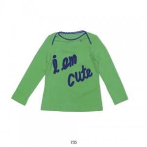 "Mim-Pi Langarm-Shirt/Longsleeve ""I am cute"" grün"