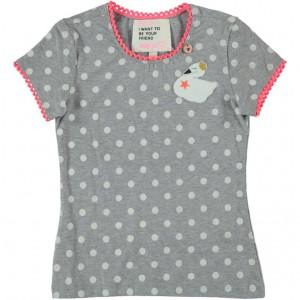 Mim-Pi T-Shirt Punkte Schwan grey