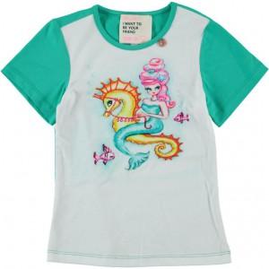 Mim-Pi T-Shirt Seepferd Meerjungfrau green