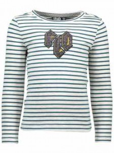LIKE FLO Langarm-Shirt/Longsleeve Streifen petrol ecru mele