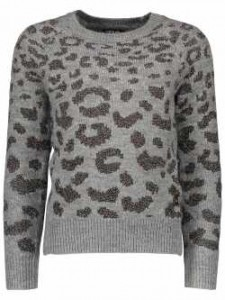 LIKE FLO Strick-Pullover Animal mit multicolor Lurex